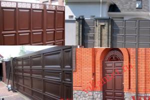 Филенчатые ворота Каскад в городе Олонец