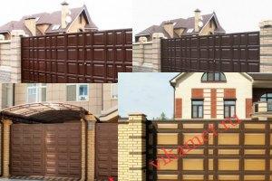 Филенчатые ворота Каскад в городе Отрадное