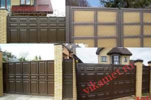 Филенчатые ворота Каскад в городе Отрадный