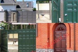 Филенчатые ворота Каскад в городе Павлово
