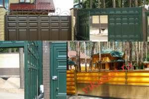 Филенчатые ворота Каскад в городе Павловск
