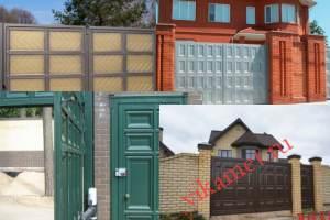Филенчатые ворота Каскад в городе Петродворец