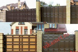 Филенчатые ворота Каскад в городе Певек