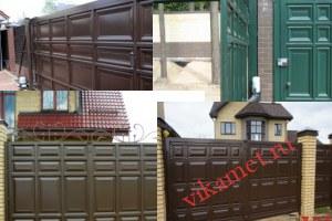 Филенчатые ворота Каскад в городе Пошехонье