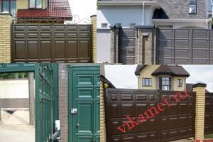 Филенчатые ворота Каскад в городе Пролетарск
