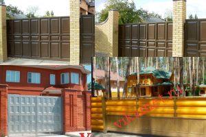 Филенчатые ворота Каскад в городе Рошаль