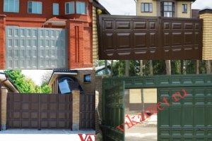 Филенчатые ворота Каскад в Ростовской области