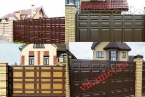 Филенчатые ворота Каскад в городе Рыбинск