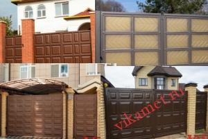 Филенчатые ворота Каскад в городе Сафоново