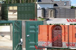 Филенчатые ворота Каскад в городе Щигры