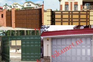 Филенчатые ворота Каскад в городе Сергиев Посад