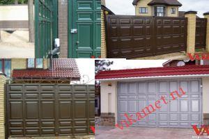 Филенчатые ворота Каскад в городе Сестрорецк