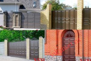 Филенчатые ворота Каскад в городе Шацк