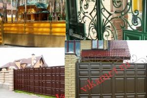 Филенчатые ворота Каскад в городе Сим