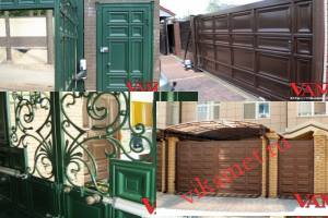 Филенчатые ворота Каскад в городе Сковородино