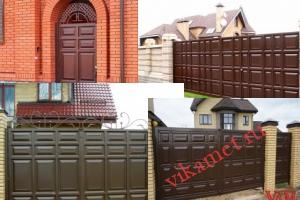 Филенчатые ворота Каскад в городе Солигалич