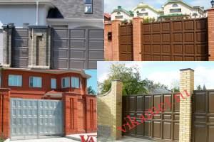 Филенчатые ворота Каскад в городе Сорск