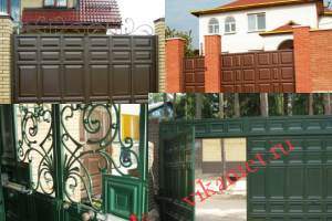 Филенчатые ворота Каскад в городе Сосновка