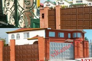 Филенчатые ворота Каскад в городе Спас-Клепики