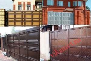 Филенчатые ворота Каскад в городе Спасск-Дальний