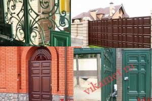 Филенчатые ворота Каскад в городе Спасск-Рязанский