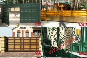 Филенчатые ворота Каскад в городе Спасск