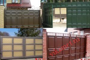 Филенчатые ворота Каскад в городе Старая Русса