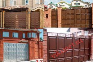 Филенчатые ворота Каскад в городе Струнино