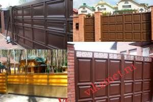 Филенчатые ворота Каскад в городе Сухой Лог