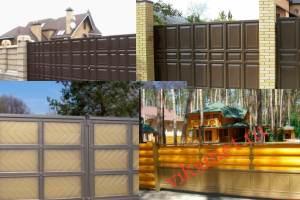 Филенчатые ворота Каскад в городе Суворов