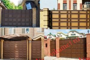 Филенчатые ворота Каскад в Свердловской области