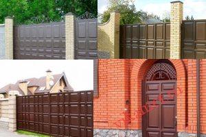 Филенчатые ворота Каскад в городе Тихорецк