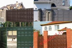 Филенчатые ворота Каскад в городе Углич