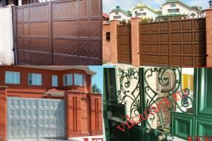 Филенчатые ворота Каскад в городе Усланский