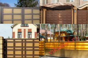 Филенчатые ворота Каскад в городе Усть-Кут