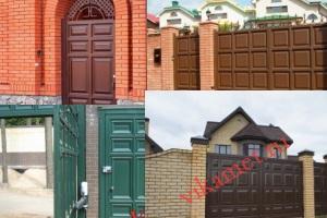 Филенчатые ворота Каскад в городе Уварово