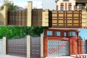 Филенчатые ворота Каскад в городе Верещагино