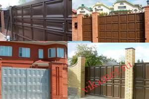 Филенчатые ворота Каскад в городе Верея