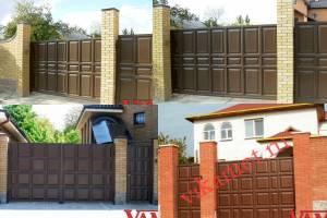 Филенчатые ворота Каскад в городе Верхняя Тура