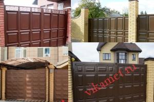 Филенчатые ворота Каскад в городе Весьегонск