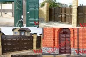 Филенчатые ворота Каскад в городе Ветлуга