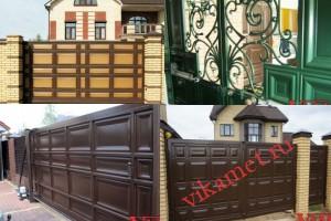 Филенчатые ворота Каскад в городе Вилюйск