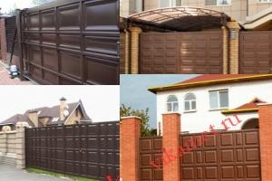 Филенчатые ворота Каскад в городе Волчанск