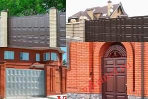 Филенчатые ворота Каскад в городе Вологда