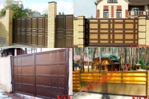 Филенчатые ворота Каскад в городе Волоколамск