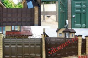 Филенчатые ворота Каскад в городе Вольск
