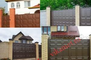 Филенчатые ворота Каскад в городе Воткинск