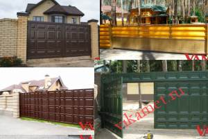 Филенчатые ворота Каскад в городе Вязьма