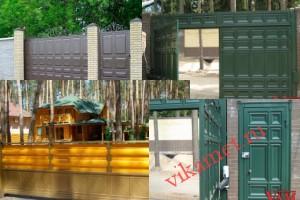 Филенчатые ворота Каскад в городе Вытегра