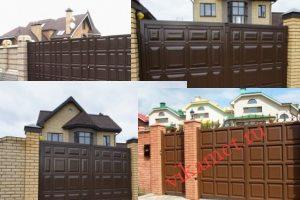 Филенчатые ворота Каскад в Ярославской области